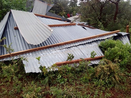 Elibariki Roof Dropped 300m From Building